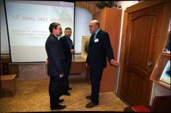 (Слева направо): Колотов А.В. (КОГКУ «ГАКО»), Машкин А.В. (областной Совет ветеранов), Жаравин В.С. (ГАСПИ КО)