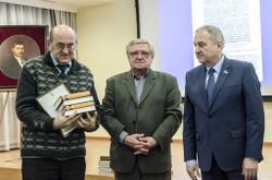 Слева направо: В.С. Жаравин, Н.Н. Гаряев, В.В. Быков