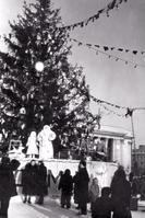 Новогодняя елка на Театральной площади. г. Киров. 1955 г. Ф. Р-6960. Оп. 1. Д. 87